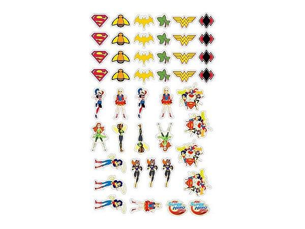 Mini Enfeite Personagens Super Hero Girl - 45 unidades