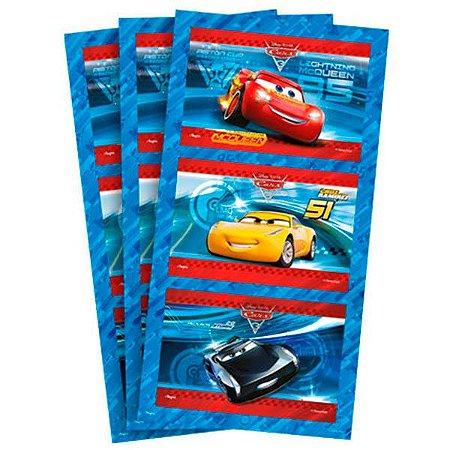 Adesivo Rótulo para Bolha de Sabão Cars 3 - 3 cartelas