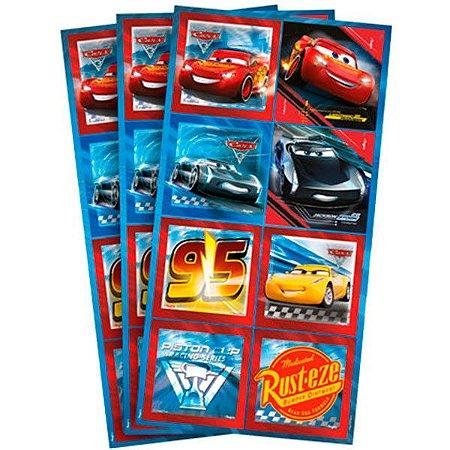 Adesivo Quadrado Cars 3 - 3 cartelas