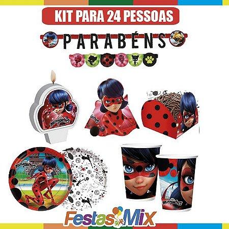 Kit Festa Ladybug - Miráculos - 24 pessoas