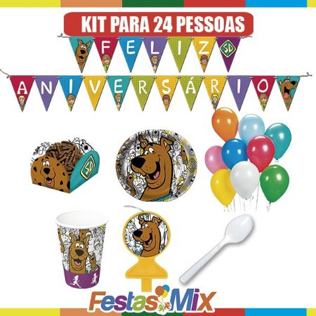 Kit Festa Scooby Doo - 24 pessoas