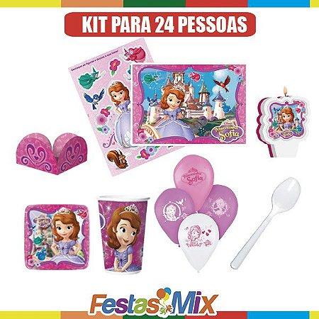 Kit Festa Princesa Sofia - 24 pessoas
