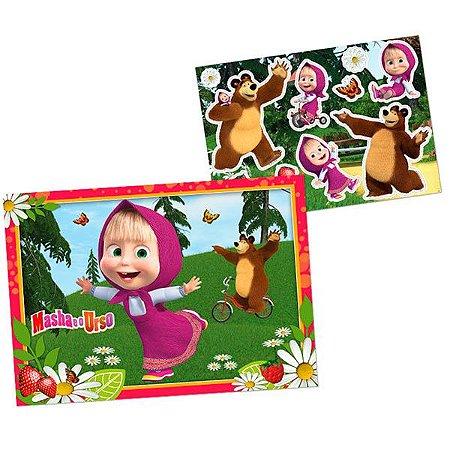 Kit Decorativo de Parede  Masha e o Urso