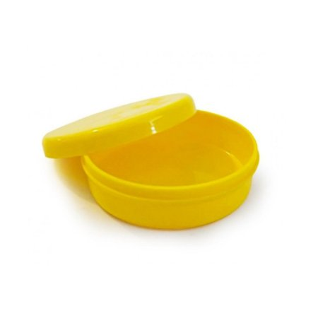 Latinha Plástica Amarelo - 10 unidades