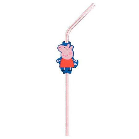 Canudos de Plástico - Peppa Pig - 30 unidades