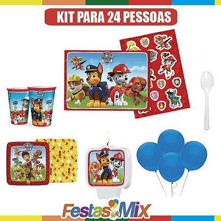 Kit Festa Infantil - Patrulha Canina - 24 pessoas