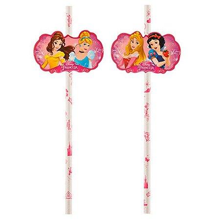 Canudo de Papel Princesas Disney - 08 und