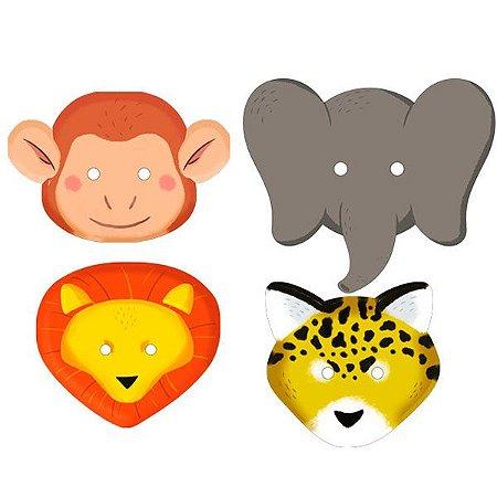 Máscara de Papel Safari com 6 und
