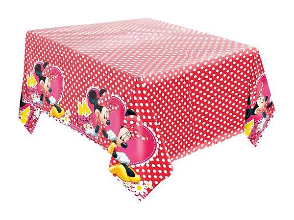 Toalha de Mesa de Papel - Minnie Vermelha