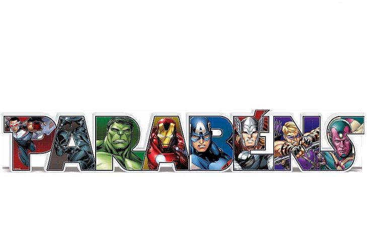 Enfeite Parabéns - Os Vingadores