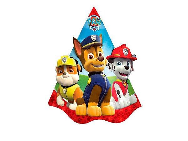 Chapéu de Aniversário - Patrulha Canina - 08 unidades