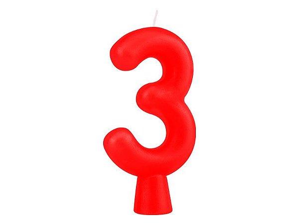 Vela Solid Colors - Vermelha - Nº 3