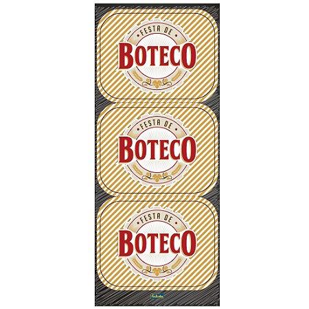 Adesivo Retangular - Festa do Boteco - 04 cartelas