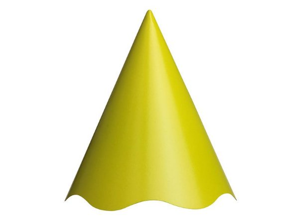 Chapéu de Aniversário Liso - Verde Limão - 08 unidades