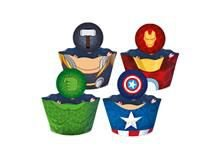 Saia para Cupcake - Os Vingadores Ícones - 12 unidades