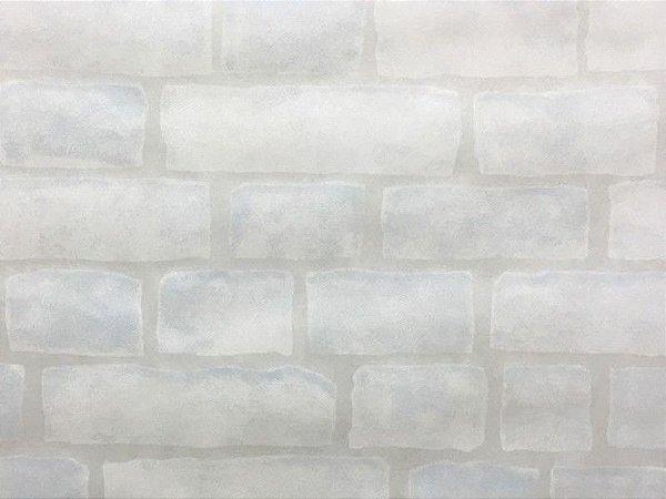 TNT Estampado Tijolinho Branco - 5 metros
