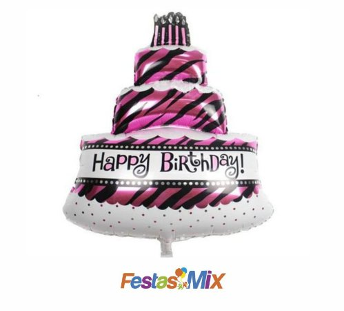 Balão Metalizado - Happy Birthday - 32 Polegadas
