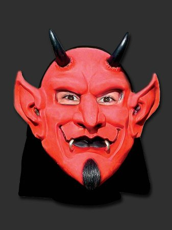 Máscara Latex - Diabo com Capuz