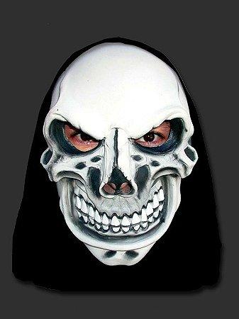 Máscara Latéx Halloween - Caveira Maquiavélica com Capuz