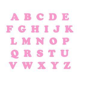 Letras EVA - Rosa