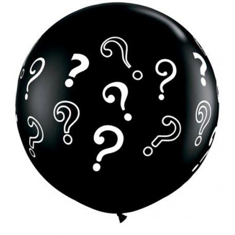 Balão Látex 76 cm Redondo Premium - Chá Revelação  - 3 pés