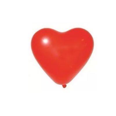 Balão Coração  nº 6 - Vermelho- Art latex - 50 unidades