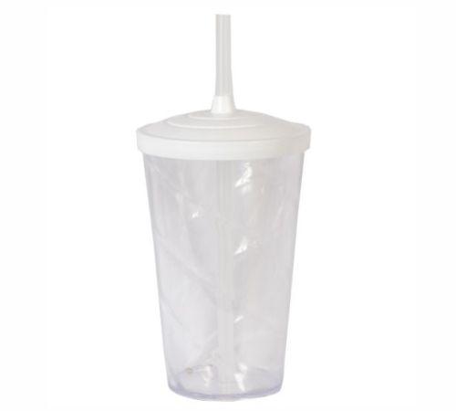 Copo Twister 400 ml - Cristal - Com tampa e canudo