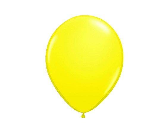 Balão Látex 7 polegadas - Amarelo -50 unidades