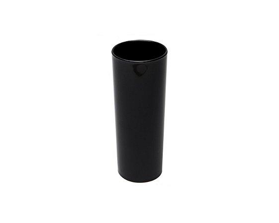Copo Acrílico Long Dring - 300ml -  Preto