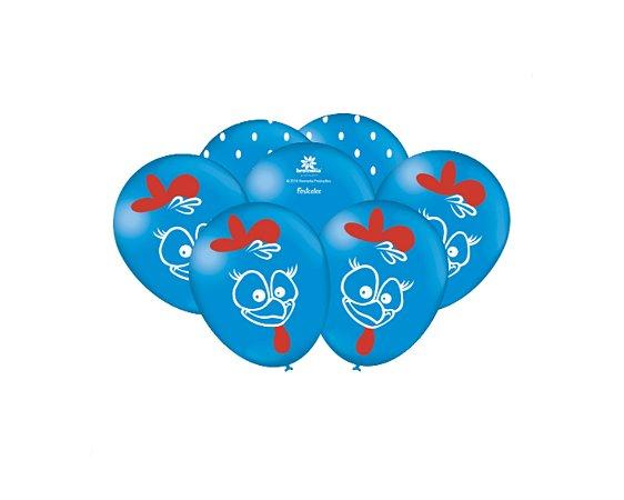 Balão Especial 9 polegadas - Galinha Pintadinha - 50 unidades