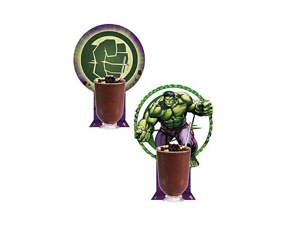 Copinho Com Enfeite Hulk