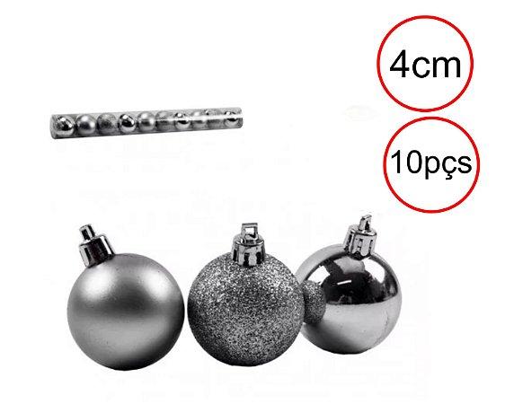 Bola de Natal - Sortido - Prata