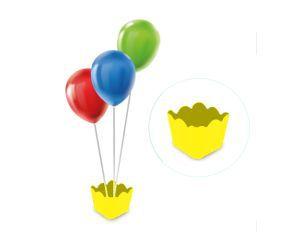Cachepot com pega balão - Amarelo