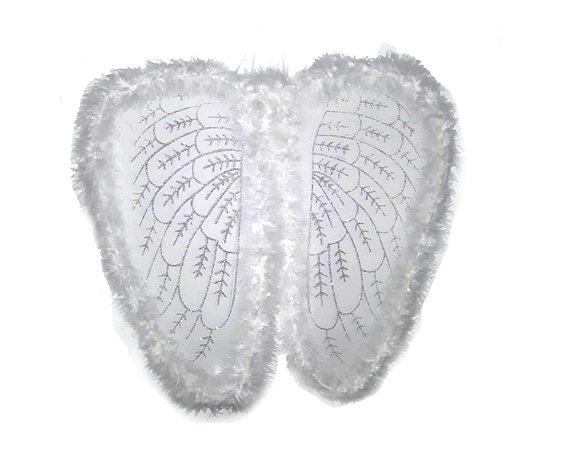 Asa de anjo longa - Branca