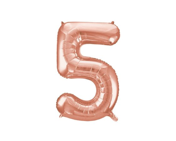 Balão Metalizados Rose Gold 40cm - Nº 5