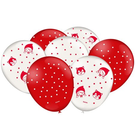Balão Latex n 9 - Festa Chapeuzinho Vermelho - 25 und