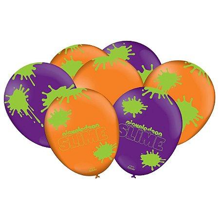 Balão Latex n 9 - Festa Slime - 50 unidades