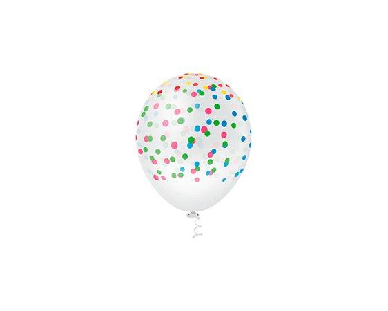 Balões Estampado N 10 - Confetes Coloridos - 25 und- Pic Pic