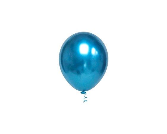 Balões Cromado Latex N 10 - Azul - 25 und- Pic Pic