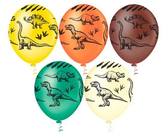 Balões Estampado N 10 - Dinossauro- 25 und- Pic Pic