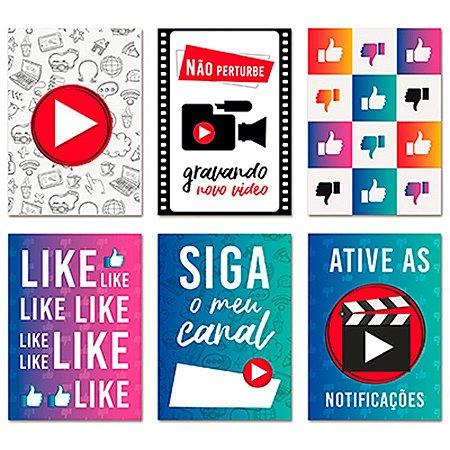 Cartaz Decorativo - Youtuber - Influencer - 08 unidades