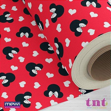 Tnt Estampado - Minnie Vermelha - 5 metros