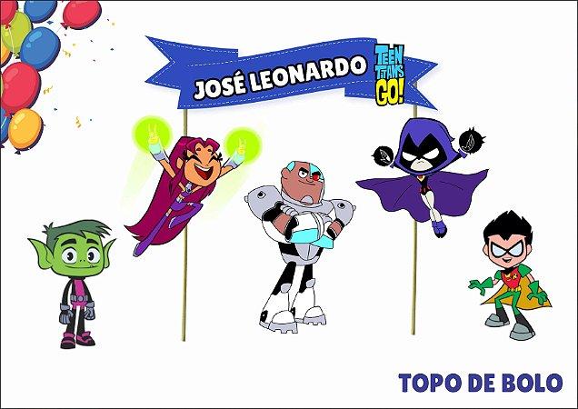 Topo de Bolo Personalizado - Teen Titans Go