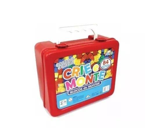 Blocos De Montar Maleta Crie E Monte 84 Peças Lego Mini Toys