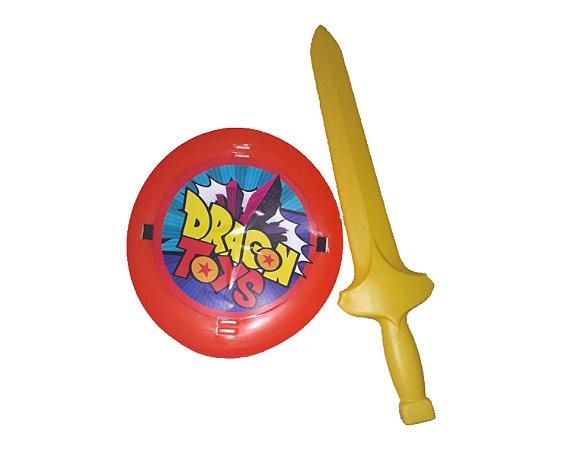 Brinquedo Kit Espada e Escudo - Dragon Ball