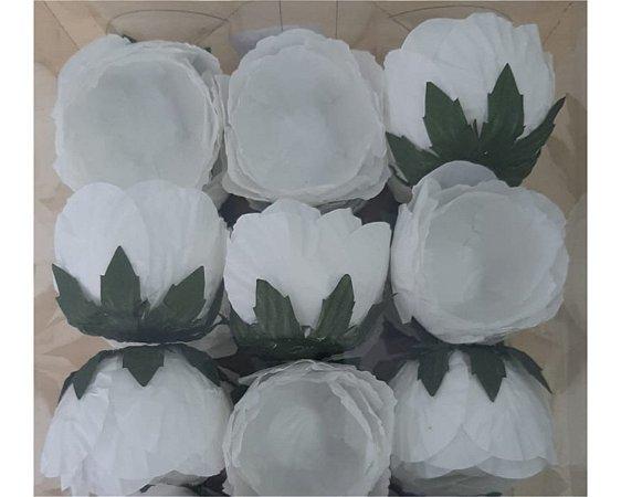Forminha para Doces Flor- Charlote - Branco - 24 Unidades