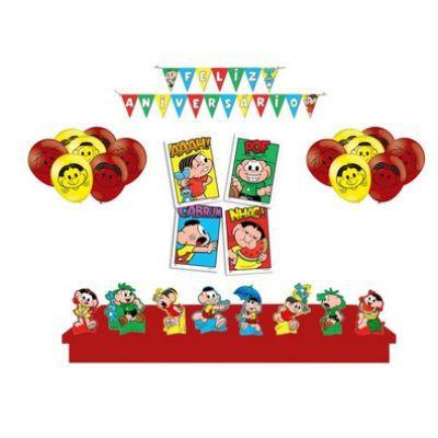 Kit Festa Turma da Mônica *faixa+Painel +Balões +Decoração de Mesa*