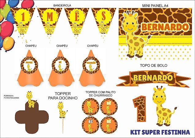 Kit Mensário - Girafa - 7 itens