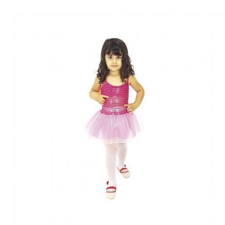 Fantasia Bailarina Rosa - Tamanho M