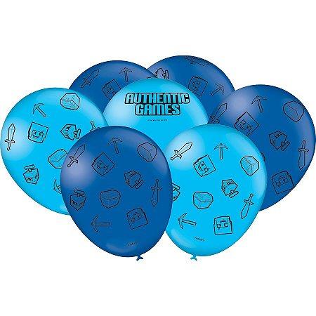 Balão látex 9 Polegadas - Authentic Games - 25 unidades